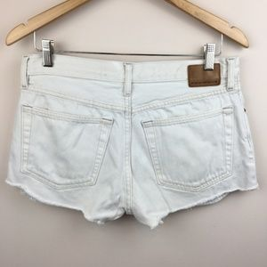 Vintage GAP Button Fly Custom White Cutoff Shorts